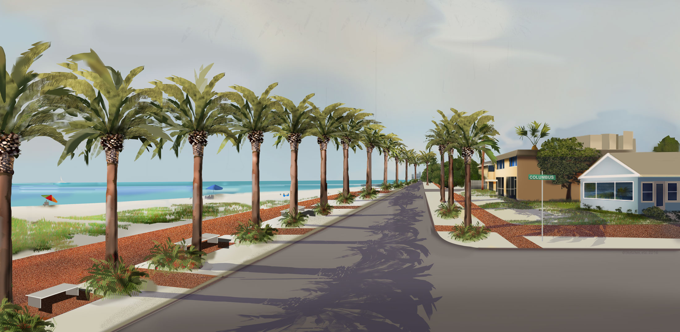 Reopen Beach Rd Render